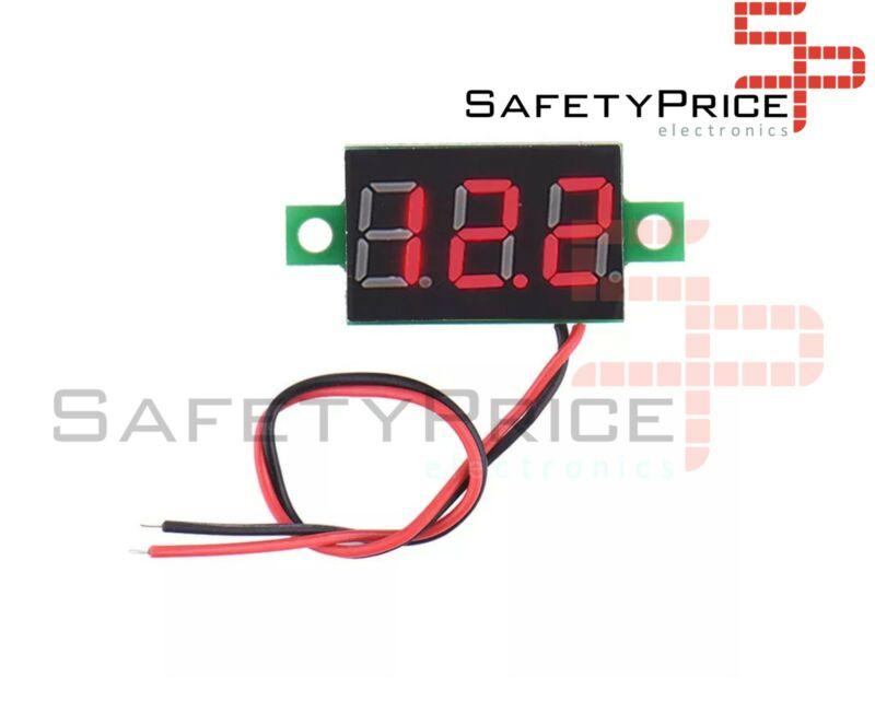 Mini Voltimetro 2,5 -32v DC 2 hilos Display Digital ROJO