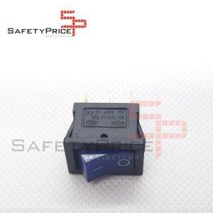 Interruptor ON OFF con luz 220v AZUL rectangular cuadrado SPST 6A 220v