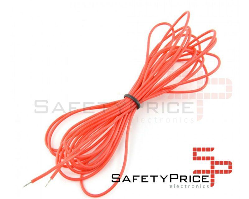 Cable AWG24 ROJO trenzado 5 metros