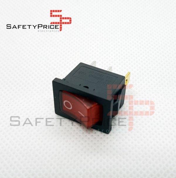 Interruptor ON OFF con luz 220v ROJO rectangular SPST 6A 220v