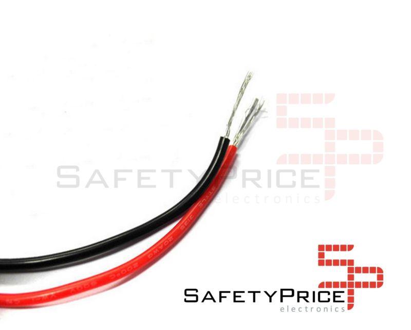 Cable AWG26 NEGRO trenzado 5 metros