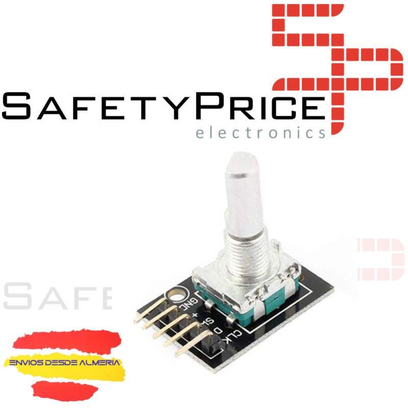 10x Sensor Rotatorio Codificador CON EJE PULSADOR KY-040 Rotary Encoder Rosca