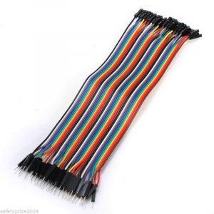 FAJA 40 LINEAS Cables 20 cm Macho Hembra jumper dupont 2,54