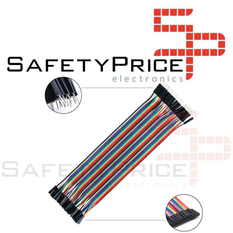 FAJA 40 LINEAS Cables 40 cm Macho Hembra jumper dupont 2,54