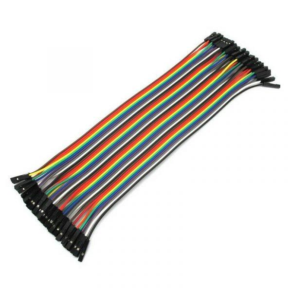 FAJA 40 LINEAS Cables 40 cm Hembra Hembra jumper dupont 2,54