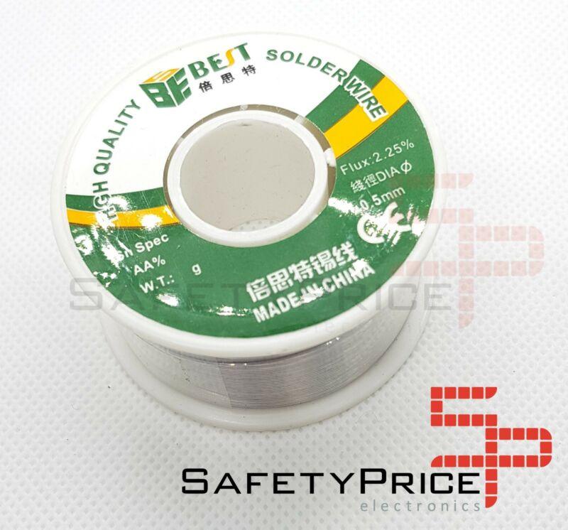 Bobina de estaño 0,5mm 0.5 100 gr flux soldar electronica BEST
