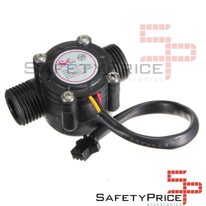 Caudalimetro Flujo agua Sensor Medidor 1-30l / min YF-S201 G1/2
