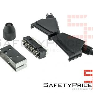 Conector Scart macho 21 pin para soldar Video Av Rgb 21p