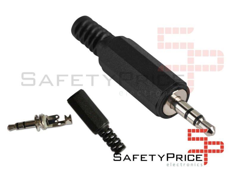 Conector jack Stereo 3.5mm macho para soldar