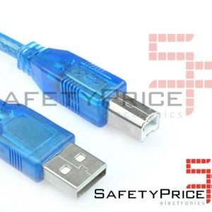 Cable usb compatible Arduino impresora Tipo A a tipo B 50 cm