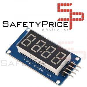 Modulo Display Digital TM1637 4 dígitos LED reloj Arduino Raspberry Pi