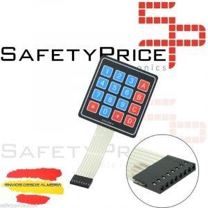 TECLADO MEMBRANA 4x4 16 teclas - Matrix Keypad Keyboard Key ARDUINO ELECTRONICA