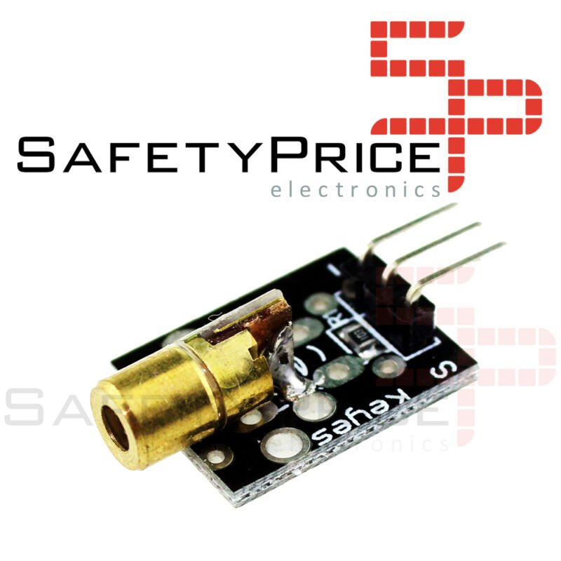 Modulo LASER 5mW 6mm transmisor KY-008 650nm 5V