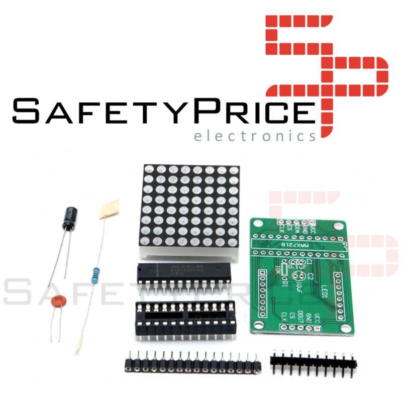 Kit para ensamblar display matriz 8x8 LED con MAX7219 Arduino