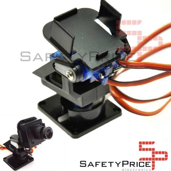 Plataforma giratoria 2 ejes FPV Pan Tilt servo SG90 y MG90 (no incluye servos)