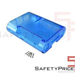 CARCASA RASPBERRY PI 2 & 3 Azul Transparente