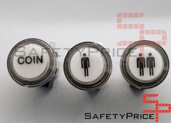 Pulsador Arcade Push button LED iluminado Bartop Stick Coin Player Monedas