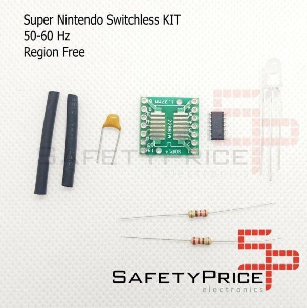 Kit Switchless Snes Super Nintendo 50/60Hz Region Free Supercic 16F630