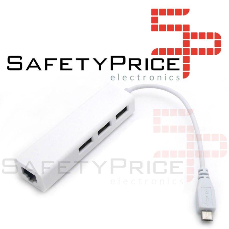 Hub Ethernet LAN Hub Micro Usb Otg Raspberry Pi Zero Rpi Tablet Movil