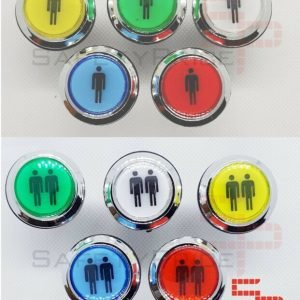 Pulsador Arcade Push button LED iluminado Bartop Stick Player 5 colores