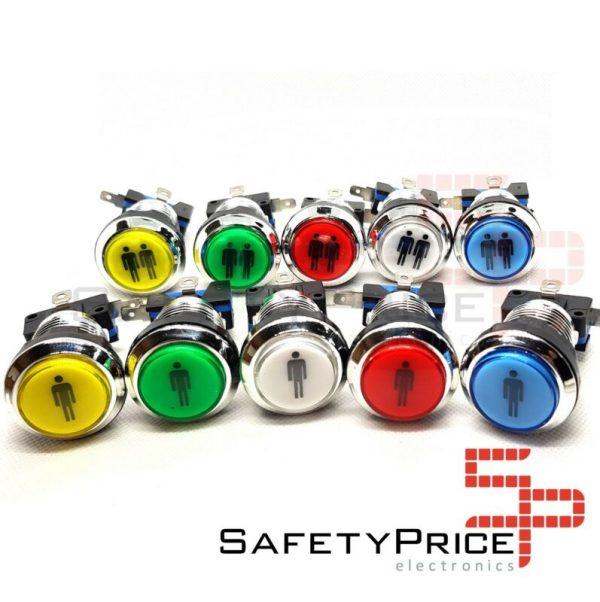 Pulsador Arcade Push button LED iluminado Bartop Stick Player 5 colores