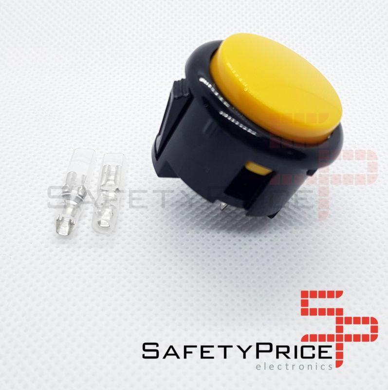 Pulsador Arcade 30mm Amarillo faston Jamma Push button Bartop Raspberry