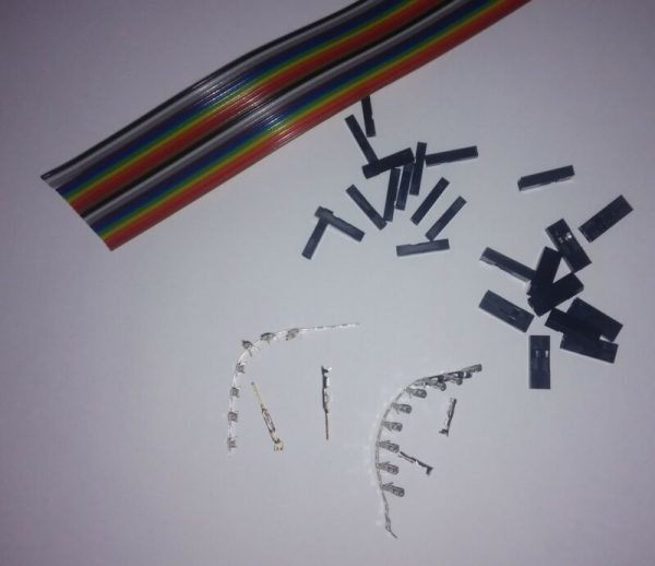 80x Pin Macho-Hembra-20m 2,54