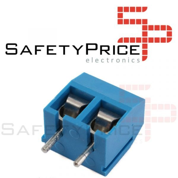 10x Borna Clema Conexion 2 pines 5mm Azul PCB enlazable tornillo bloque