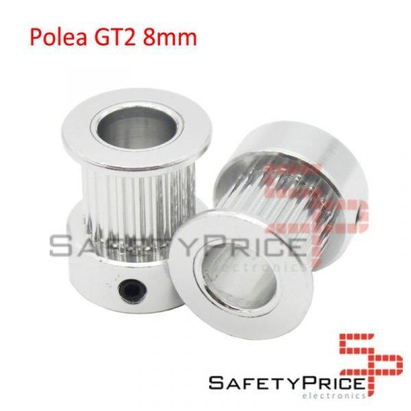 POLEA GT2 20 DIENTES 8MM BORE ALUMINIO PULLEY IMPRESORA 3D REPRAP