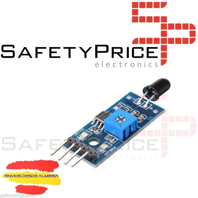 Modulo sensor llama fuego YG1006 ir flame regulable 760nm 1100nm