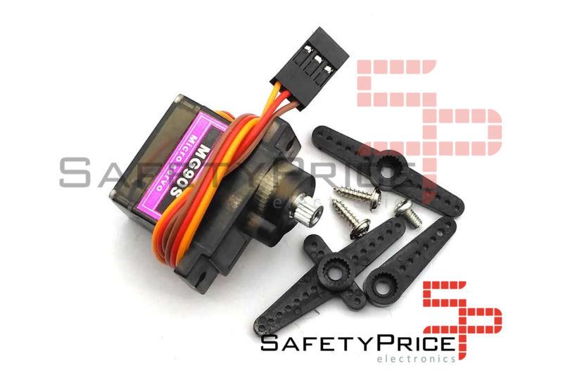 Micro servo engranajes metalicos compatible con MG90S TowerPro