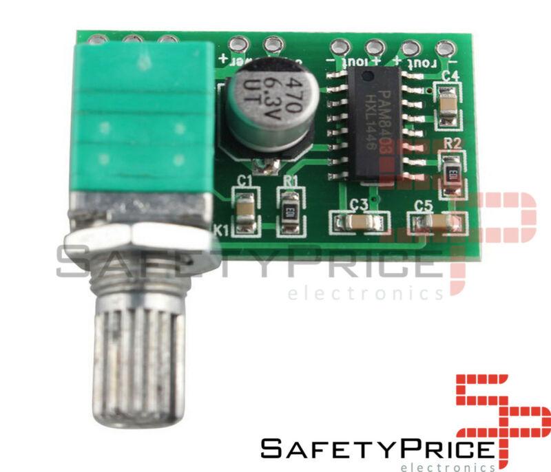 PAM8403 2X3W POTENCIOMETRO Dual Channel Audio Stereo Amplifier board