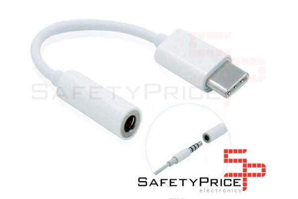 ADAPTADOR USB TIPO C 3.1 A JACK HEMBRA 3.5MM COLOR BLANCO