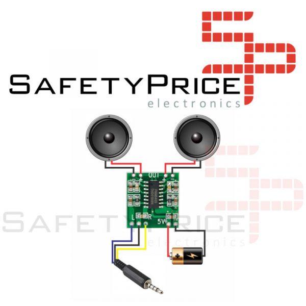 PAM8403 2X3W MINI Amplificador Dual Channel Audio Stereo