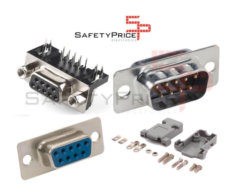 Conector DB9 Macho Hembra 9 pin