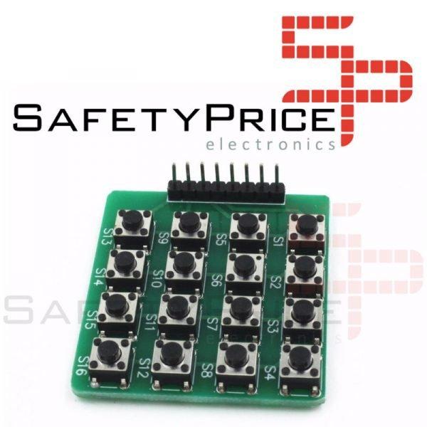TECLADO 4x4 PULSADORES MATRIZ 16 teclas tactil ARDUINO