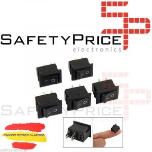 5x Interruptor de encendido/apagado AC 250 V 3A 2 Pin ON / OFF i / o SPST Snap