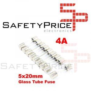5X Fusible Rapido de Vidrio 5X20 mm 4A 250V