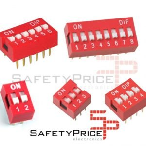 3x Interruptor Dip switch On-Off varias posiciones a elegir