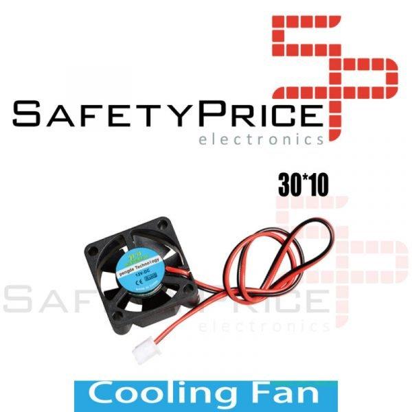 Ventilador 3010 12V 2 cables Reprap Impresora 3D 30x30x10mm