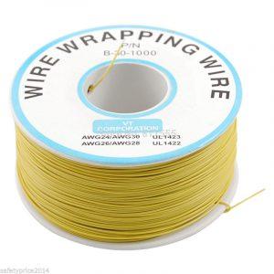 Bobina AWG30 AMARILLO 200m Cable Hilo WRAPPING