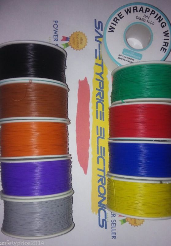 Bobina AWG30 AMARILLO 200m Cable Hilo WRAPPING