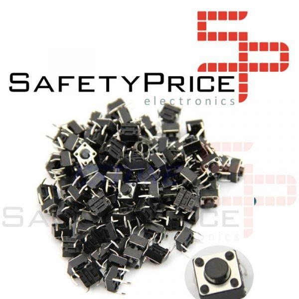 10x Pulsador Mini pulsador 6x6x5mm PCB