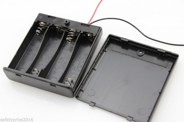 Portapilas Battery holder 4xAA Porta 4 Pilas con interruptor