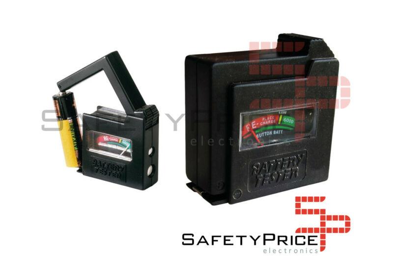 Probador testeador universal comprobador de Pilas Baterias AA AAA 1.5V 9V