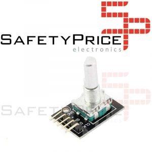 Sensor Rotatorio Codificador CON EJE PULSADOR KY-040 Rotary Encoder Rosca