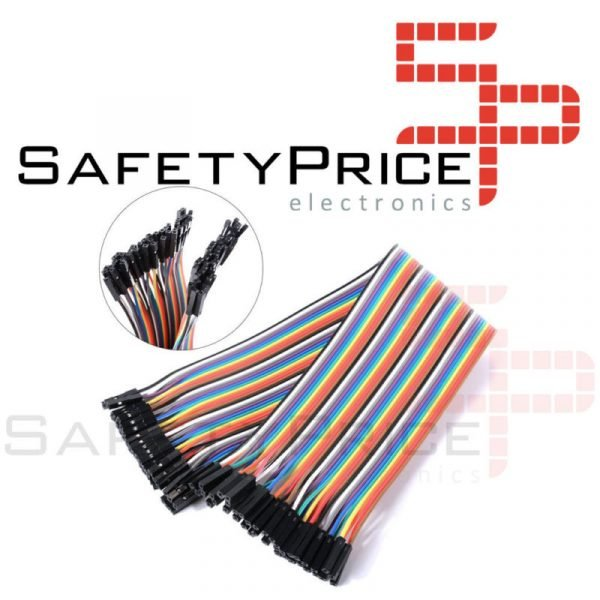 40x Cables 30cm Hembra Hembra jumper dupont 2,54 arduino protoboard cable
