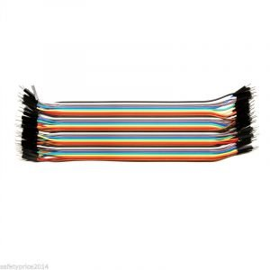 40 CABLES MACHO MACHO 20cm jumpers dupont 2,54 arduino