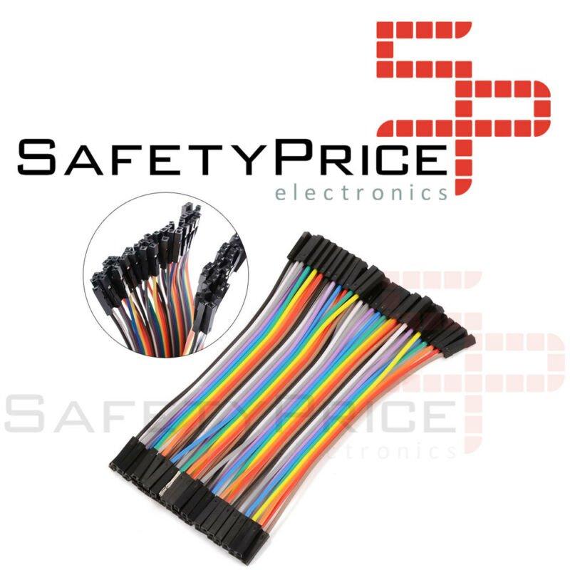 FAJA 40 LINEAS Cables 10 cm Hembra Hembra jumper dupont 2,54