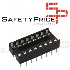 10x Zocalo integrado 16 PINs DIP 16 Socket doble contacto